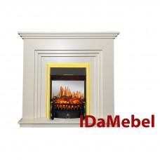 Каминокомплект IDaMebel Gloria Белый Fobos Brass