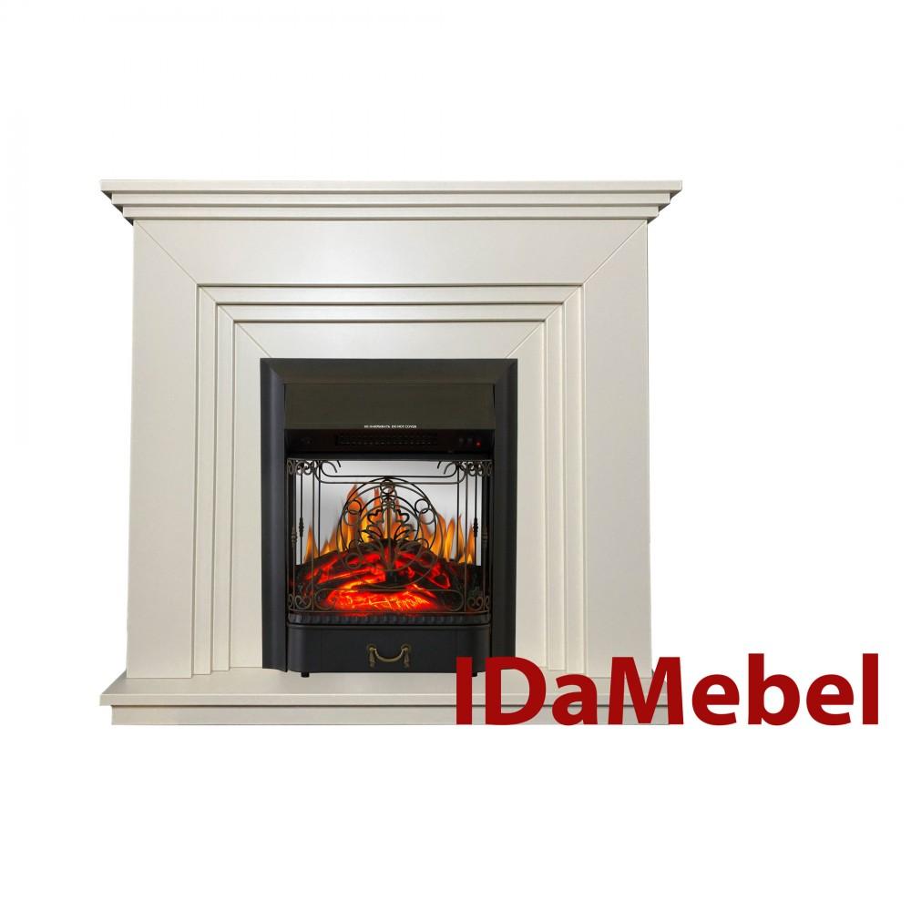 Каминокомплект IDaMebel Gloria Белый Majestic Black
